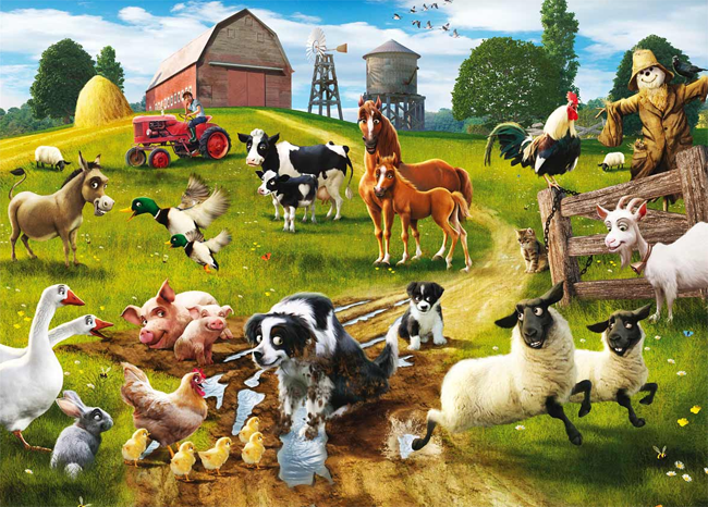 Sounds of farm animals for children